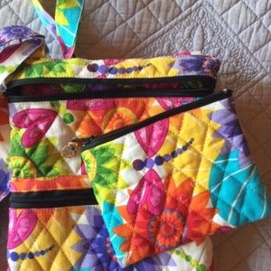 COLORFUL small purse with change purse